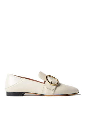 Bally: Loafers & Slippers - Lottie white leather loafers
