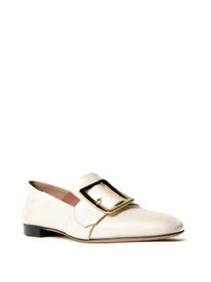 Bally: Loafers & Slippers online - Janelle white leather loafers