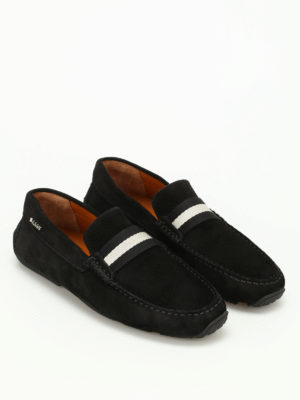 Bally: Loafers & Slippers online - Pearce band detail suede loafers