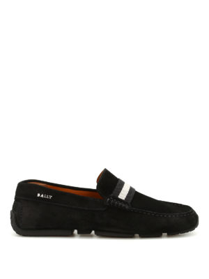 Bally: Loafers & Slippers - Pearce band detail suede loafers