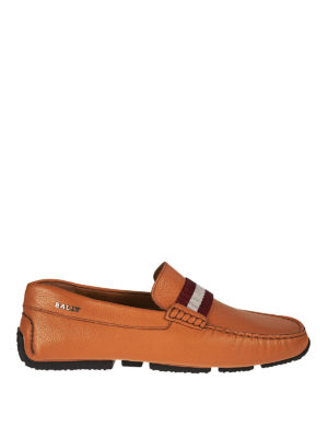 Bally: Loafers & Slippers - Pearce leather driver loafers