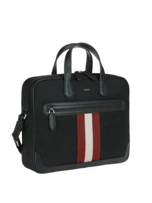 BALLY: borse da ufficio online - Valigetta Chandos piccola in nylon e pelle