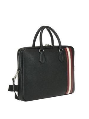 BALLY: borse da ufficio online - Borsa da ufficio Staz nera in pelle