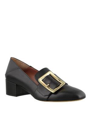 BALLY: Mocassini e slippers online - Mocassini Janelle neri con fibbia