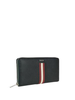 BALLY: portafogli online - Portafoglio Salen S nero con logo e zip