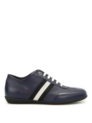 Bally: trainers - Harlam band detail leather sneakers