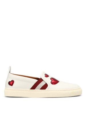 Bally: trainers - Henrika hearts pattern slip-ons