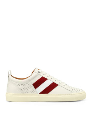 Bally: trainers - Henton white leather sneakers