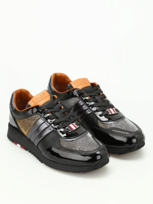 Bally: trainers online - Asya lurex inserts leather sneakers