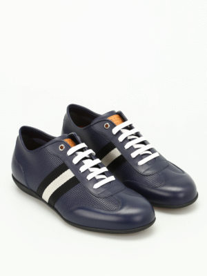 Bally: trainers online - Harlam band detail leather sneakers