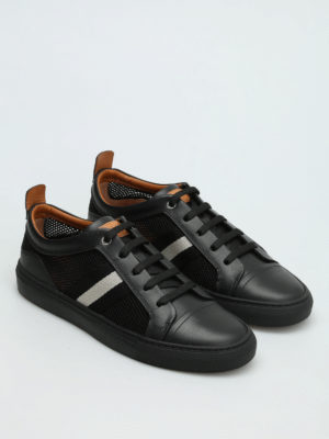 Bally: trainers online - Hegor leather and mesh sneakers