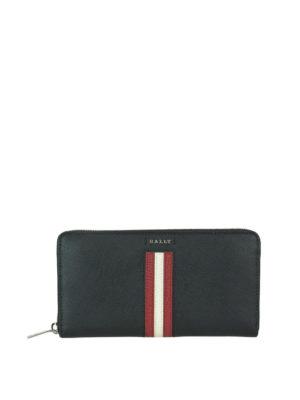 BALLY: portafogli - Portafoglio Salen S nero con logo e zip