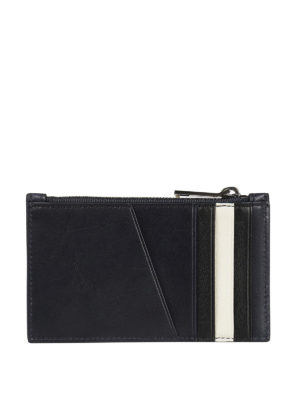 Bally: wallets & purses online - Tenley blue leather card holder