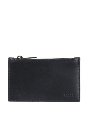 Bally: wallets & purses - Tenley blue leather card holder