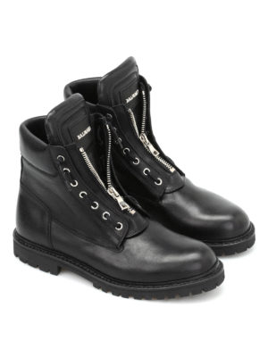 Balmain: ankle boots online - Taiga leather zipped boots