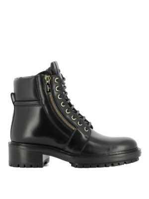 Balmain: ankle boots - Side zip detail leather ankle boots