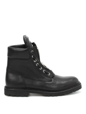 Balmain: ankle boots - Taiga leather zipped boots