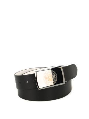 Balmain: belts - Black and white reversible belt