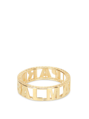 Balmain: Bracelets & Bangles - Gold-tone brass logo bangle