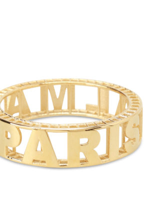 Balmain: Bracelets & Bangles online - Gold-tone brass logo bangle