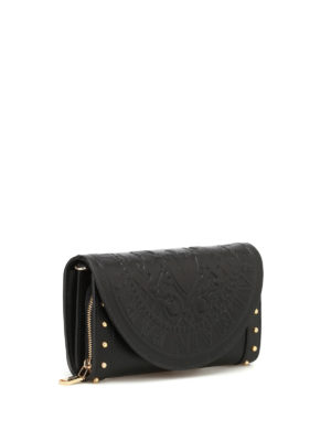 Balmain: clutches online - Smooth leather wallet clutch