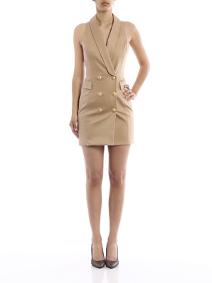 Balmain: cocktail dresses online - Blazer-inspired short dress