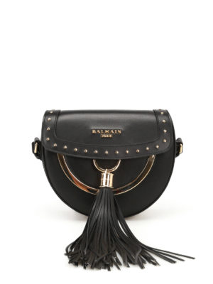 Balmain: cross body bags - Cross body bag with coin purse
