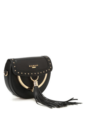 Balmain: cross body bags online - Cross body bag with coin purse
