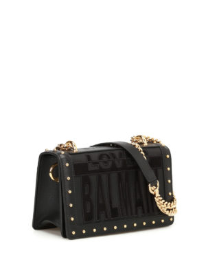 Balmain: cross body bags online - Love Balmain leather bag