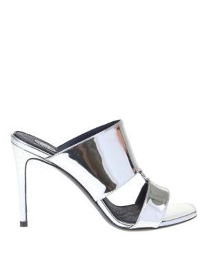 Balmain: sandals - Paola Mirror sandals