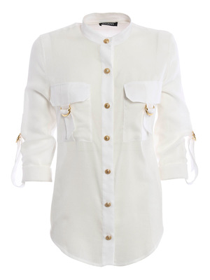 Balmain: shirts - Cotton blend safari shirt