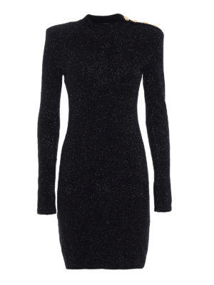 Balmain: short dresses - Lurex tight mini dress