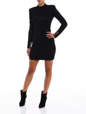 Balmain: short dresses online - Lurex tight mini dress