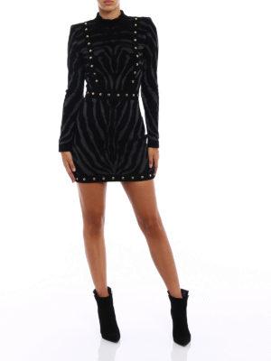 Balmain: short dresses online - Studded patterned mini dress