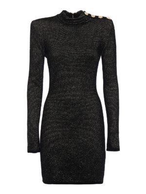 Balmain: short dresses - Velvet and lurex dress