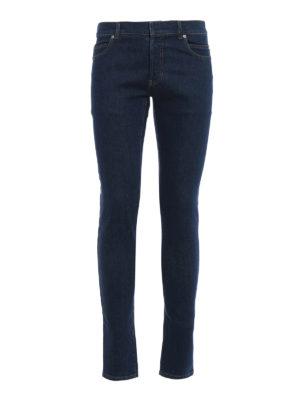 Balmain: skinny jeans - Back embossed logo denim jeans
