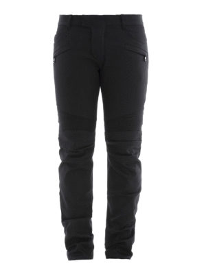 Balmain: straight leg jeans - Denim biker jeans