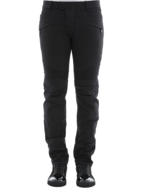 Balmain: straight leg jeans online - Denim biker jeans