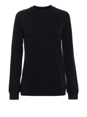 Balmain: Sweatshirts & Sweaters - Embossed logo sweatshirt