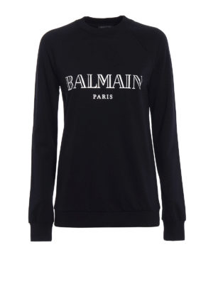 Balmain: Sweatshirts & Sweaters - Logo print sweatshirt