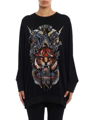 Balmain: Sweatshirts & Sweaters online - Crepe cady oversize sweatshirt