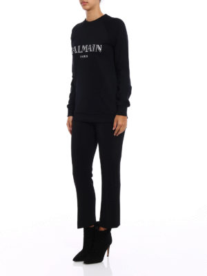 Balmain: Sweatshirts & Sweaters online - Logo print sweatshirt