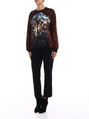 Balmain: Sweatshirts & Sweaters online - Satin panelled printed sweatshirt