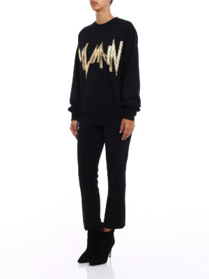 Balmain: Sweatshirts & Sweaters online - Silkscreen logo print sweatshirt