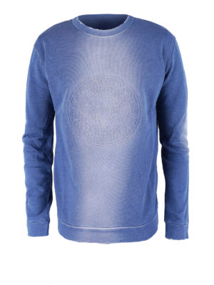 Balmain: Sweatshirts & Sweaters - Used effect cotton sweatshirt