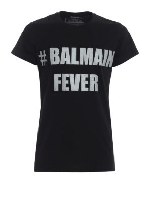 Balmain: t-shirts - #Balmain Fever T-shirt