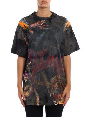 Balmain: t-shirts online - Used effect oversize cotton-shirt