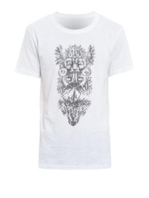 Balmain: t-shirts - Totem print cotton Tee