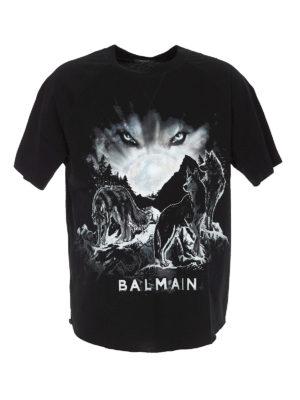 Balmain: t-shirts - Wolf T-shirt