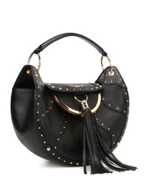 Balmain: totes bags online - Leather tote with coin purse
